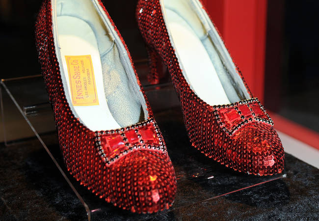 Judy Garland fan offers $1 million reward for return of stolen ruby slippers