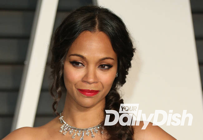 Zoe Saldana nearing weight goal eight months after giving birth
