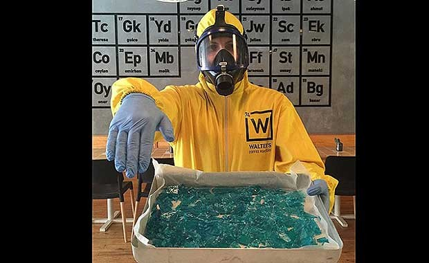 """Blue Ice"" Candy samples. Source: Facebook/Walter's Coffee Roastery"