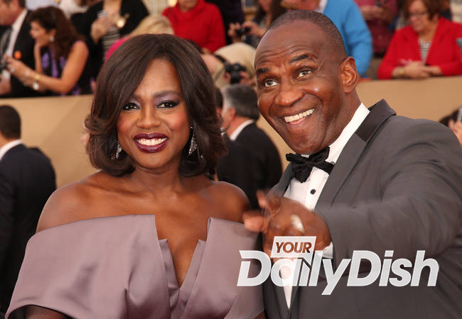 Viola Davis renews vows among celebrity friends