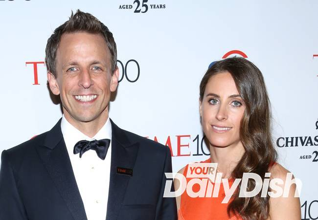 Comedian Seth Meyers is a first-time dad