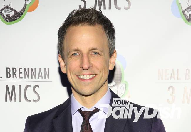 Seth Meyers reveals sweet sentiment behind son