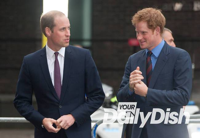 Prince William and Harry have lightsaber battle on Star Wars set