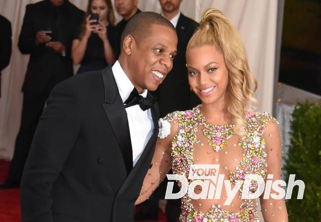Beyonce and Jay Z united at tour rehearsals