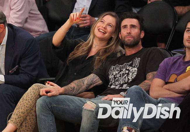 Adam Levine and Behati Prinsloo in car smash