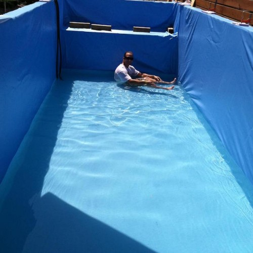 How To Craft A Gorgeous Swimming Pool Out Of A Dumpster