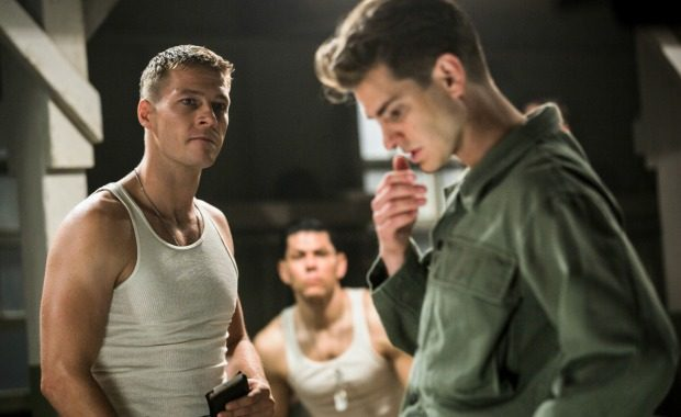Source: Luke Bracey (left) as Smitty Lionsgate Publicity/Mark Rogers