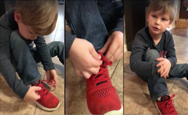 Year Old Shoe Tying Trick