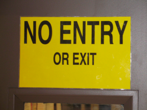 The-No-Entry-or-Exit-Door-Sign