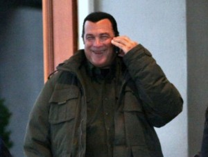 Steven Seagal Leaving Sutton Place Hotel