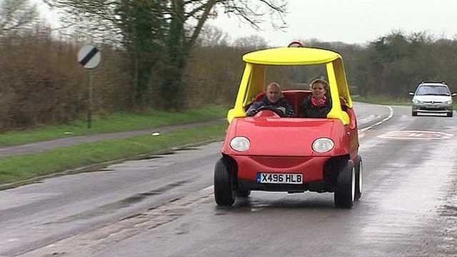 Now you can buy this full size street legal little tikes car for Little tikes motorized vehicles