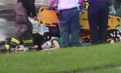 baby fell off bridge