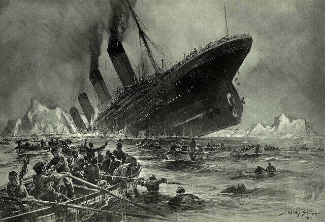 Fire Sank the Titanic