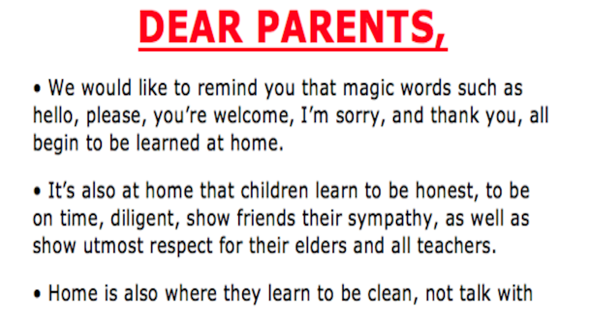 teachers frustrations perfectly displayed in viral letter to parents