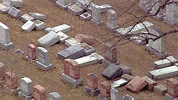 Vandalized Jewish Cemetery