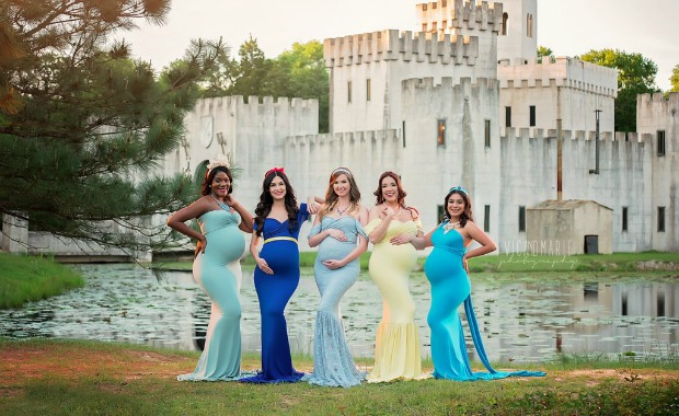 Pregnant Disney Princess Photo Shoot