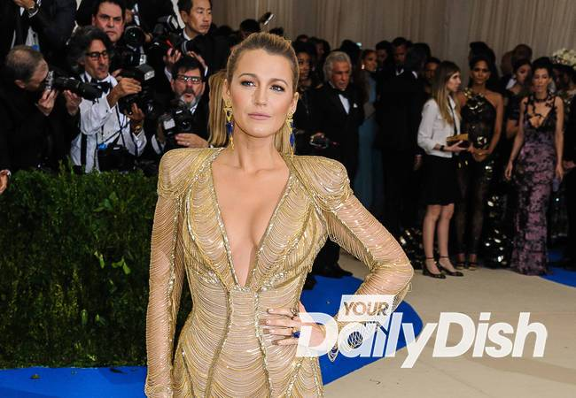 Blake Lively climbing into the cage for MMA film