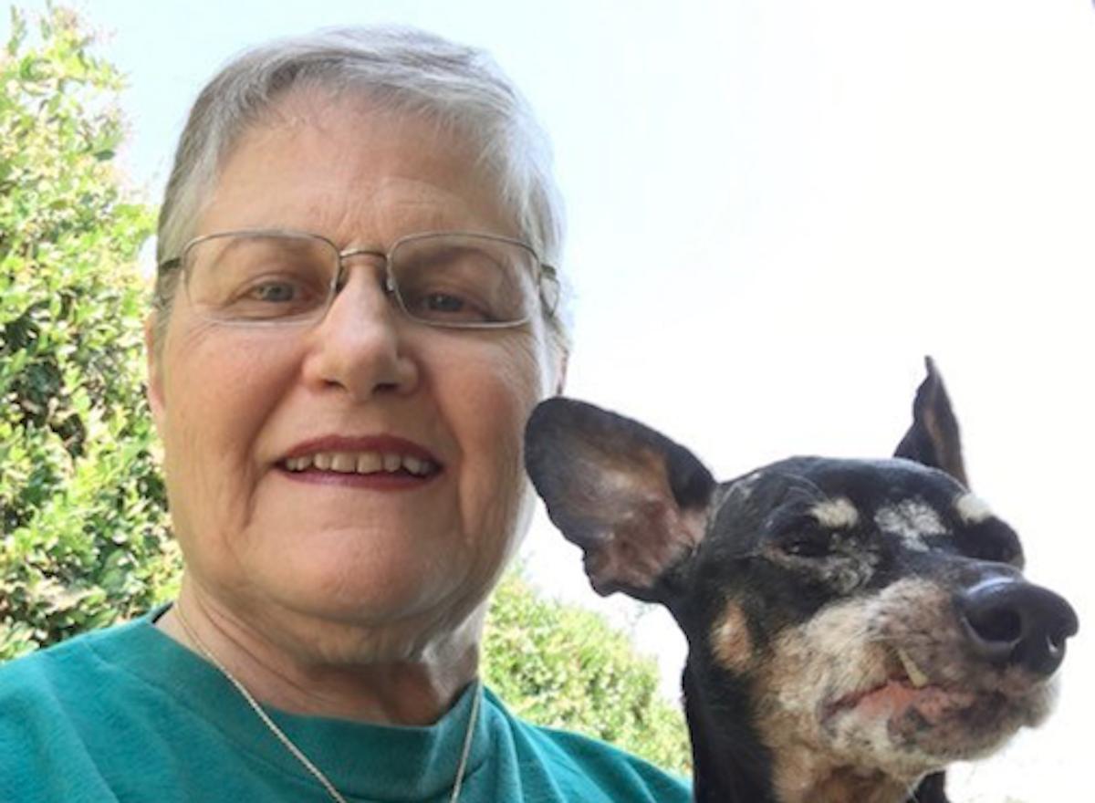 Melani Andrews rescues oldest dog