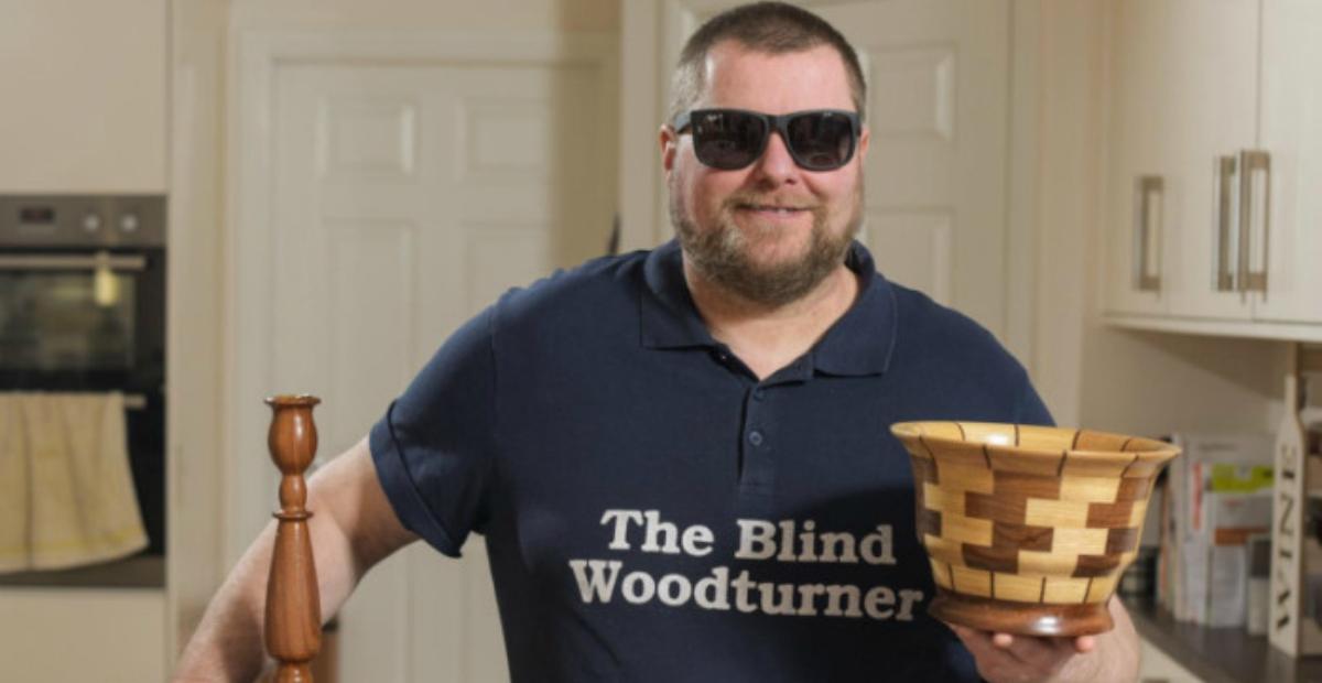 blind woodturner